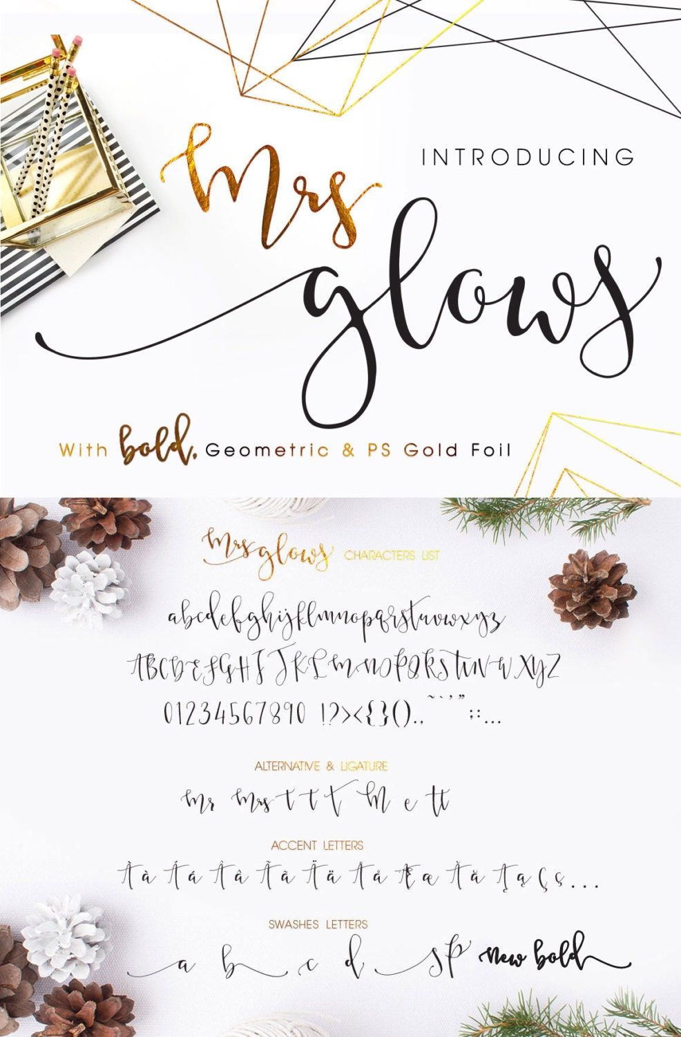 Mrs Glows Modern Calligraphy Font Download with Bonus