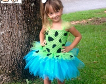 Pebbles Tutu Dress, Pebbles Costume with Bone hair clip    *Flintstones Inspired