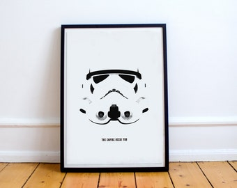 Stormtrooper Minimalist Poster Print - Star Wars Art - Empire - Dark Side (Available In Many Sizes)