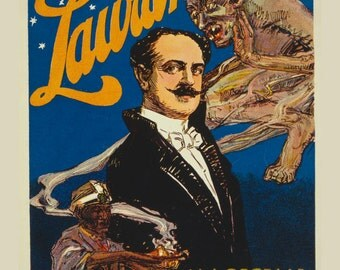 Laurant- stage magician and illusionist. Magic poster.
