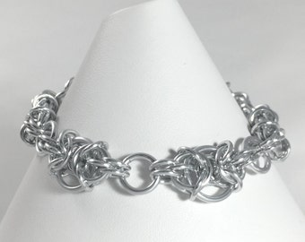 Chainmaille Bracelet - Silver Anodised Aluminium