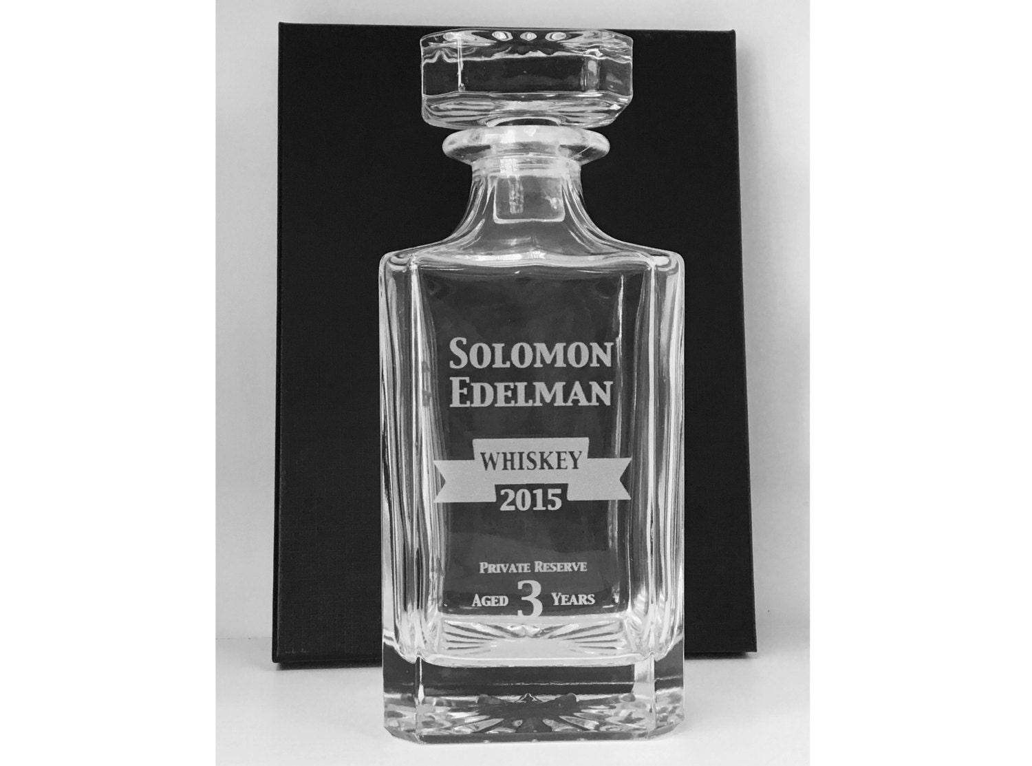 personalized decanter custom engraved glass whiskey decanter