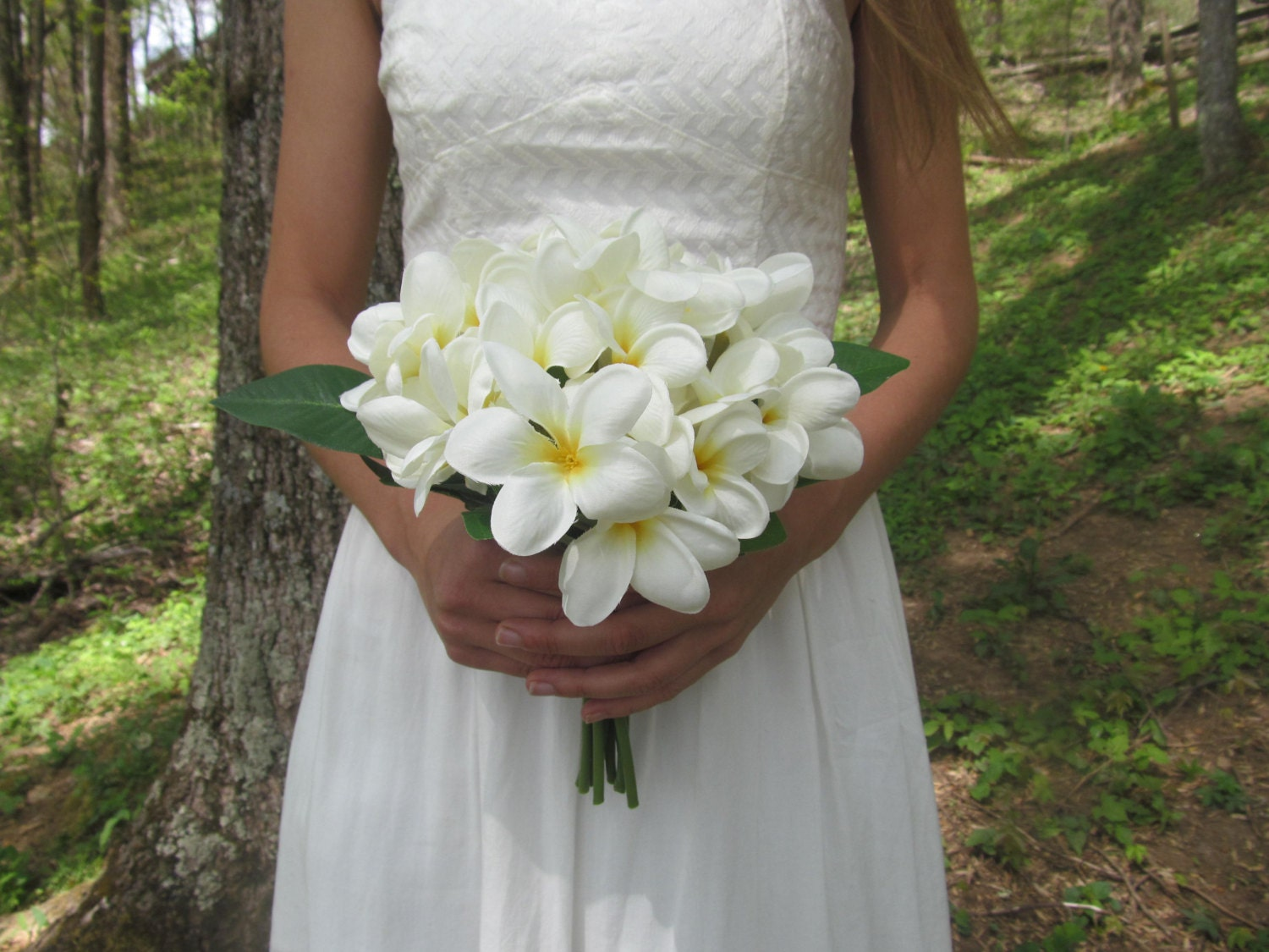 Plumeria Bouquet Plumeria Bridal Bouquet White By Dieselboutique