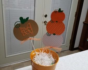 Pumpkin centerpiece, pumpkin baby shower, lil pumpkin shower, lil pumpkin centerpiece
