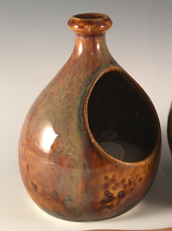 salt cellar in rich mottled brown