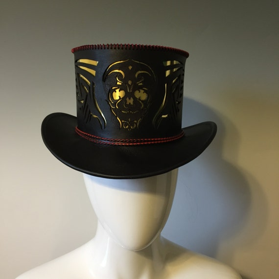 Items Similar To Hand Stitched Leather Top Hat
