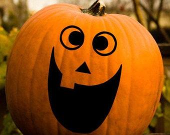 Jack O Lantern Silly Faces Vinyl Decal, Halloween Face Vinyl Decal, Pumpkin Vinyl Decal, Halloween Sticker, Door Hanger Decal, Car Decal