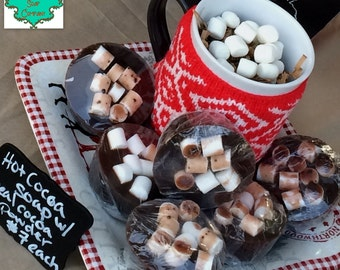 Hot Cocoa Soap Bar - Made with Real Cocoa Powder - Holiday Soap, Winter Soap, Hot Chocolate Soap