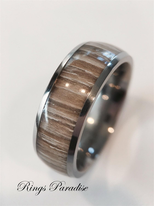 mens titanium ring wood inlay ring titanium ring wedding. Black Bedroom Furniture Sets. Home Design Ideas