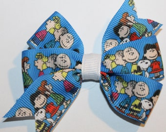 SALE: Charlie Brown Hair Bow, Charlie Brown Bow, Peanuts Hair Bow, Peanuts Bow, Snoopy Hair Bow, Snoopy Bow