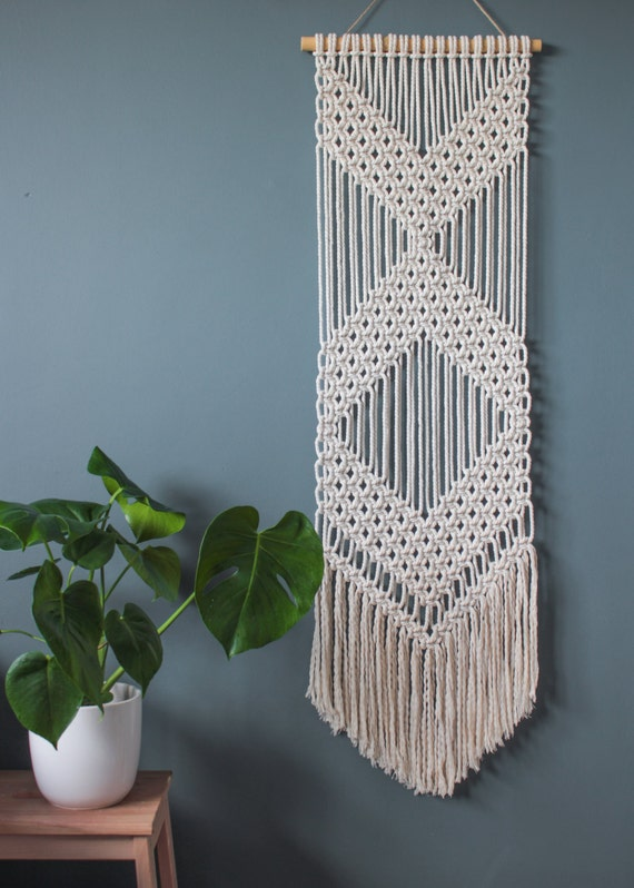 Macrame Wall Hanging Chevrons 100 Cotton Cord In