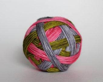 "Dyed to Order: ""Urban Garden"" - Leaf Green, Pink, Gray"