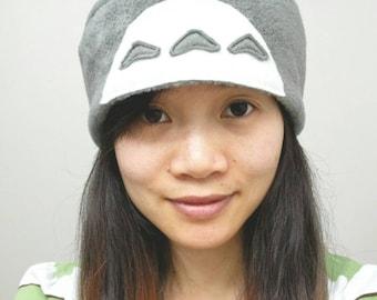 My Neighbor Totoro - Totoro Hat - Spirit Totoro Hat - Gray Totoro Hat - Anime Totoro Hat - Totoro Beanie Hat - Anime Hat - Totoro Fleece hat