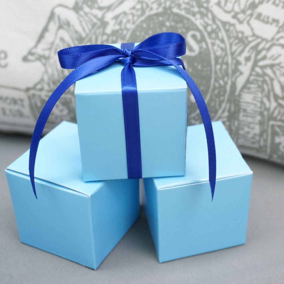 Favour Boxes Baby Blue : Light blue favor boxes jewelry gift wrap baby