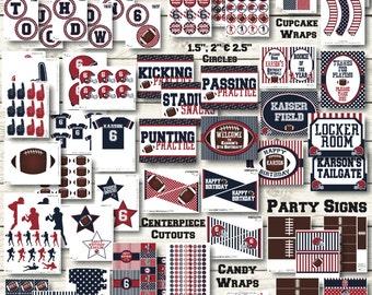 Football Party Decorations - Football Birthday Decorations - Sports Birthday Decorations - Sports Party - Football Printables - Football Ban