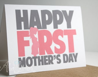 Happy First Mother's Day Card - Mothers day card - Mother's day card - First time mom card - card for mom - Mothers day gift
