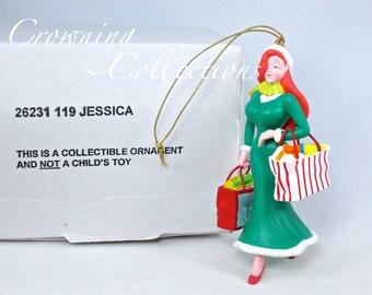 Grolier Jessica Rabbit Disney Ornament Shopping Bags Christmas DCO Magic Who Framed Roger Rabbit?