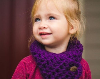 Kids Scarf, Baby, Toddler Child Purple Infinity Scarf, Cowl