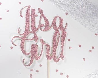 It's a Girl - Baby Shower Cake Topper - New Baby Cake Topper - It's a Girl Cake Topper - Boy Girl Shower - Baby Girl - Baby Shower Decor