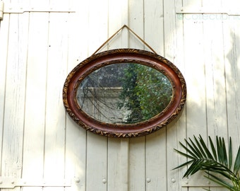 Old oval mirror - old oval mirror