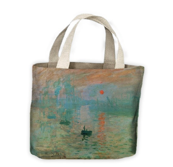 claude monet impression sunrise tote shopping bag for life. Black Bedroom Furniture Sets. Home Design Ideas