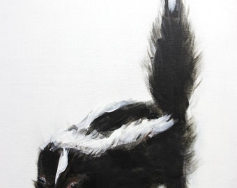 Little Skunk print on canvas