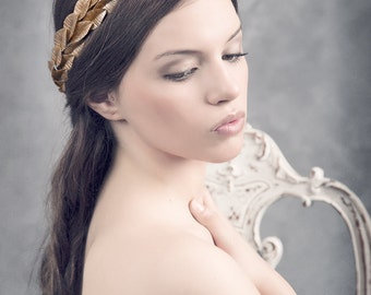 Grecian headpiece. Gold leaves headpiece. Bridal headpiece. Gold leaves crown. Grecian crown. Style 519