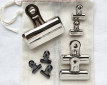 BULLDOG CLIP // ART Hanging Clips Industrial Chic Supplies Showcase Display Silver Metal Metallic Supply Wall Trendy Hipster Kinfolk Style