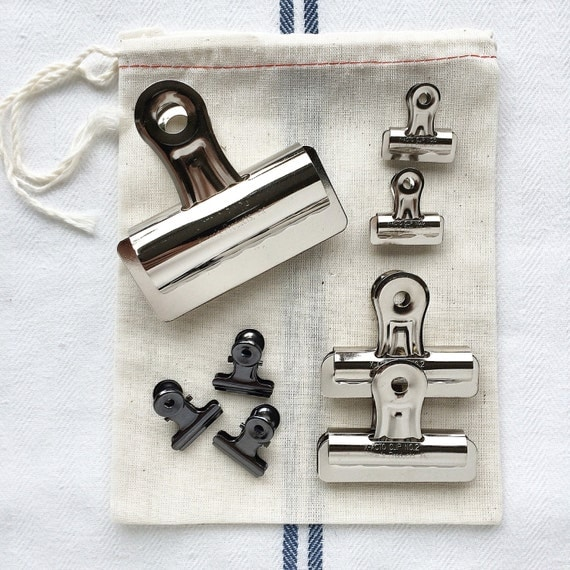 Photo Hanging Clips bulldog clip // art hanging clips industrial chic supplies