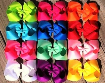12 Piece 6 inch Hair Bow Set