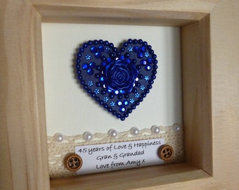 Wedding Gifts For 45th Anniversary : 45th wedding anniversary gift, 45th anniversary gift, sapphire ...