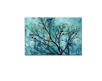 Large Art Large Wall Art Large Abstract Painting Tree A2 Poster Tree Art Print Tree Watercolor Art  A2 Abstract Art Printable