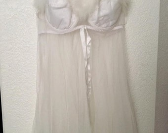 90s Sheer Fuzzy Night gown