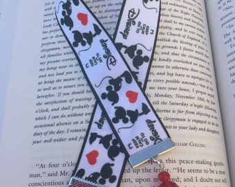 Bookmark, ribbon bookmark, Disney, Mickey Mouse