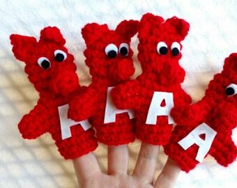Arkansas Razorback Finger Puppets, Set of Four