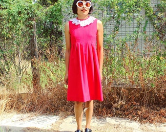 Red Lacey Babydoll Dress