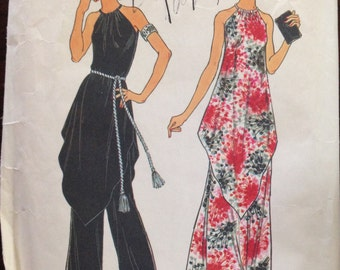 Simplicity 7270 - 1970s Tent Style Tunic, Skirt, and Wide Leg Pants - Size 12 Bust 34