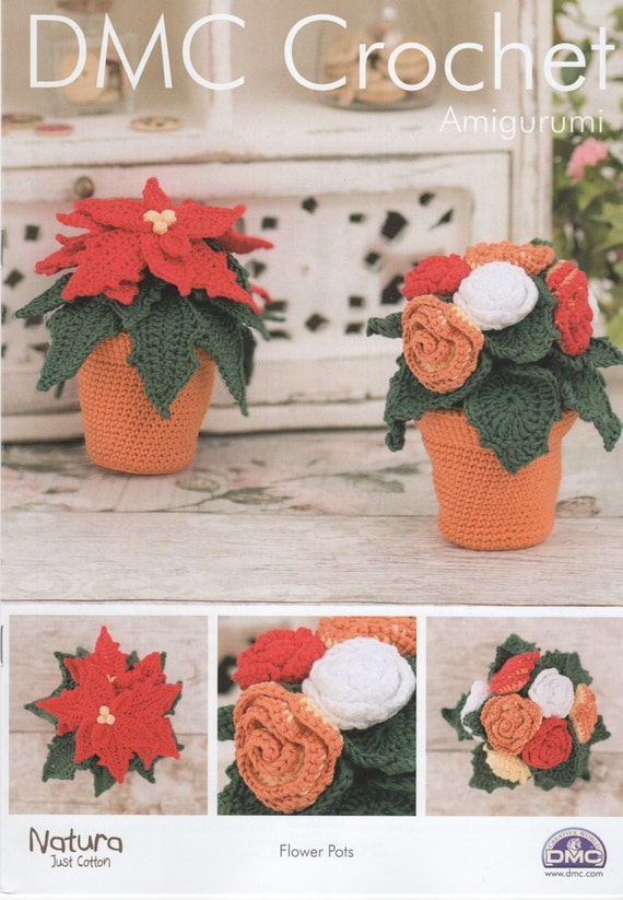 Amigurumi Flower Pot : DMC 15317L/2 Flower Pots Amigurumi Crochet Pattern
