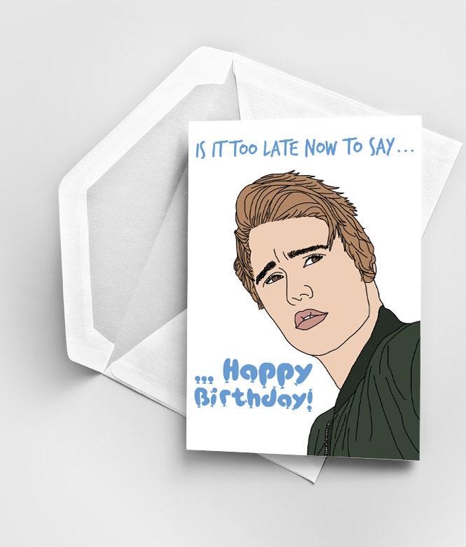 Happy Birthday Justin Bieber Greeting Card