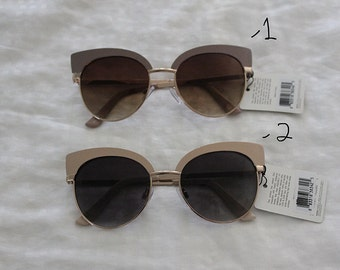 Vintage indie round circle cat eye sunglasses