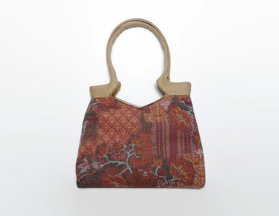 Donkerrode tapestry schoudertas warme kleuren bohemian tas - Lijst van warme kleuren ...