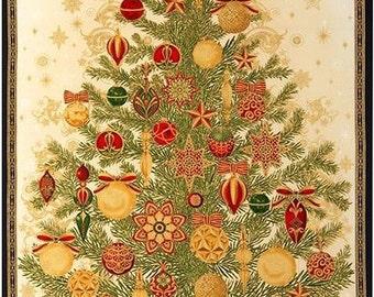 Holiday Christmas Tree Panel
