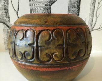 Alvino Bagni For Raymor Ceramic Vase Pot Rare Italian Pottery