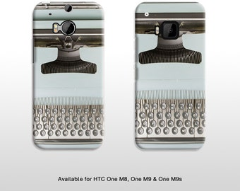 HTC One vintage typewriter phone cover. Type writer keyboard print hard case for HTC One M8 M9 M9s T315