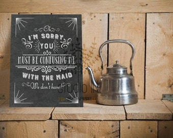 Kitchen chalkboard print, funny chalkboard printable, Dining Room Print, Funny Quote, CHALKBOARD Style Printable, chalkboard funny quote