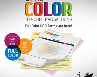 "3 Part Full Color NCR Forms 8.5"" x 5.5"" - Invoice Forms, Order Forms, Estimate Forms - Custom Graphic Design and Printing"