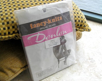 Black Nylon Stockings, Swiss Made 15 Denier Vintage Stockings with Side Stripe, Stockings Lingerie In Original Packing, 1970s, Size Small