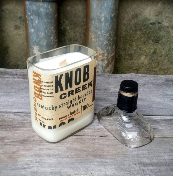 Knob Creek Recycled Bottle Candle