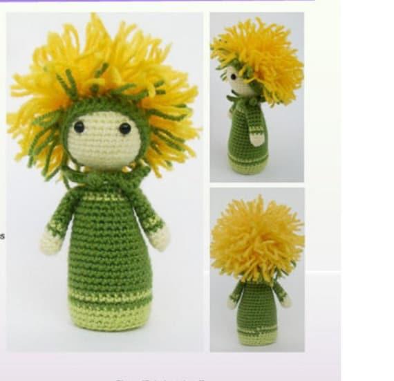 Amigurumi Flower Crochet Pattern : Crochet Pattern Amigurumi Doll Flower Doll Dandelion Di