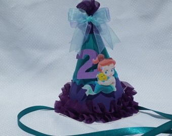 Baby Ariel party hat; mermaid party hat